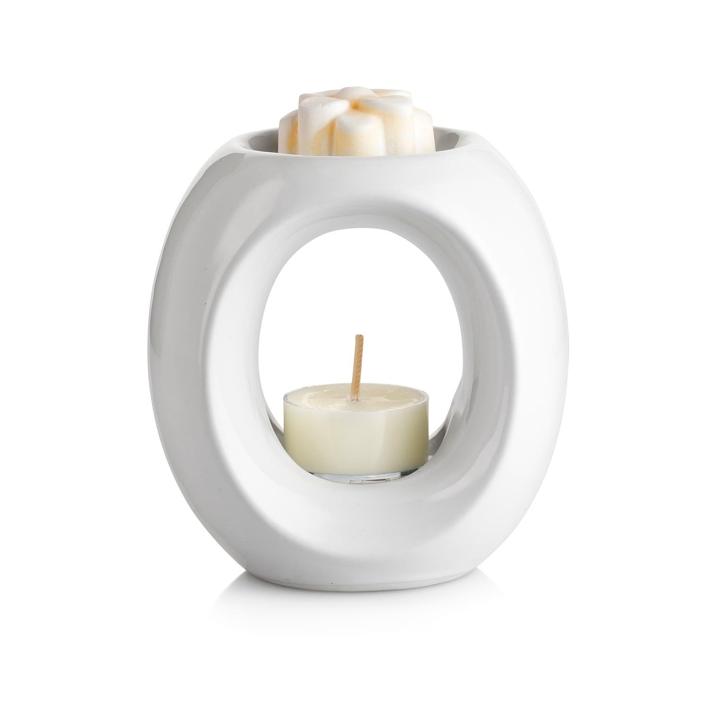 White Ceramic Oil Burner Gift Set