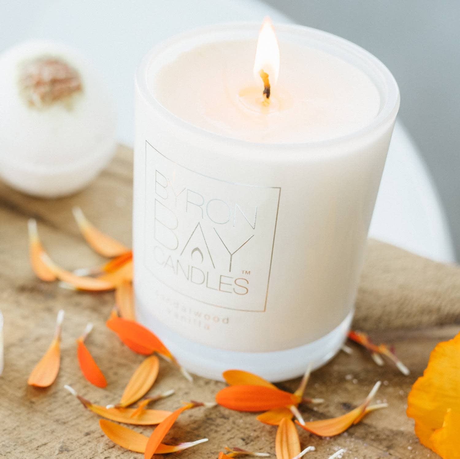 Sandalwood Vanilla Pure Soy Candle | Byron Bay Candles | Hand Poured