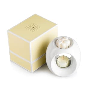 White Ceramic Oil Burner Gift Set $33.50