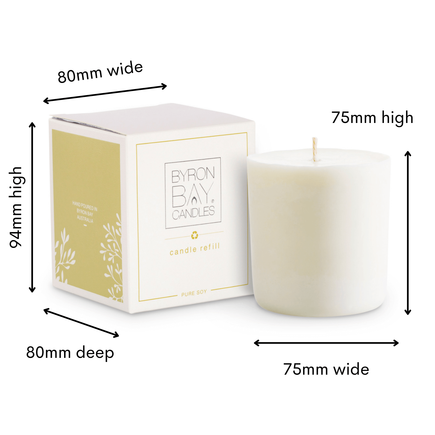 refill candle image sizing Byron Bay Candles